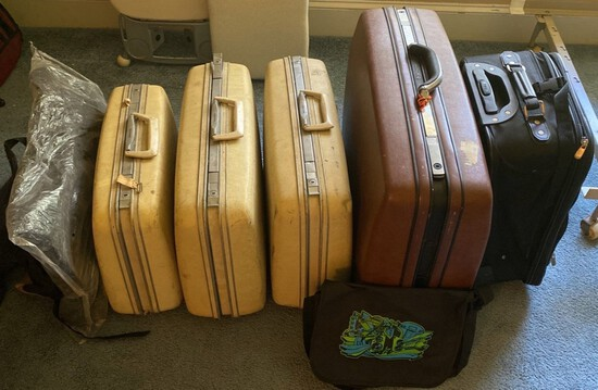 Eight Pieces of Assorted Luggage