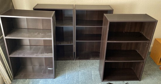 4 Black/Brown Shelves