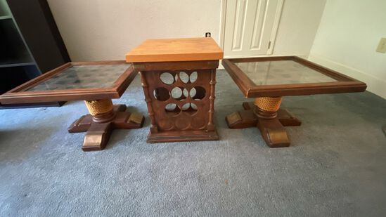 Lot of 3 Vintage Tables