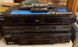Sony VHS Player, Sony Blue-Ray Disc Player, Toshiba DVD Player