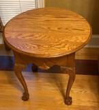 Oak Oval Side Table