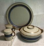 "Hand-Crafted Otagri Original ""Horizon"" Pattern Serving Pieces"