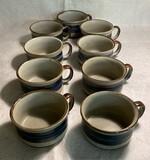 "Hand-Crafted Otagiri Original ""Horizon"" Pattern Soup Mugs"