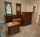 Five-Piece Pecan Link Taylor Bedroom Suite