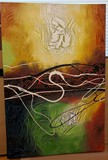 Abstract Multicolored Canvas Art