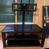 TV Stand, Coffee Table, and New-in-Box Bookshelf