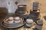 Set of Contemporary Chateau Hand-Painted Stoneware & Tienshan Stoneware