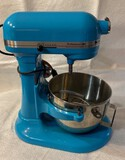 Teal KitchenAid Professional HD Mixer and Accessories