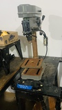 5-Speed  Table Top Drill Press and Wooden Worktable
