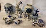 Large of Blue and White Porcelain Items