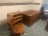 Heavy Solid Oak Office Furniture