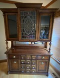 Pulaski Furniture's Apothecary Collection Bar/Buffet Cabinet with Stained Glass Style Door