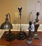 Lot of 4 Metal Lamps
