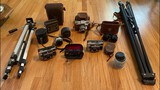 Lot of Vintage Cameras, Binoculars and Tripods