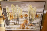 Original Textured Landscape Painting by Miller (?)