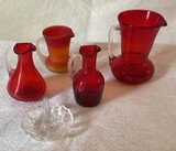 Gorgeous Red Glass Pitchers