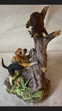 New Orleans Genuine-Porcelain Coon Dog and Racoon