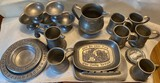 Large Lot of Pewter