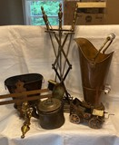 Lot of Metal Household Items