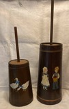 1980's Hand-Painted Butter Churns