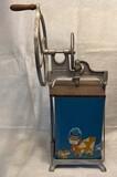 Dazey 5-Gallon Hand-Crank Metal and Wood Butter Churn