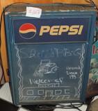 Light Up Plastic Pepsi Cola Chalk Board