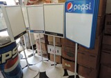 Lot Of 5 Erasable Pepsi Sign Boards