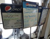 Lot Of 4 Erasable Pepsi Sign Boards