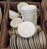 50+ Pcs Of It & Tuxton White Restaurant China Bowls & Underplates