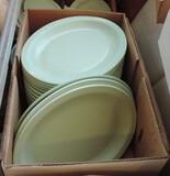 25 Standard Oval Plastic Platters