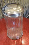 15 Glass Restaurant Sugar Shakers With 10 Stainless Lids