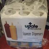6 6-Packs Update International Squeeze Dispensers