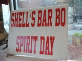 Large Lot Shell's BBQ Spirit Day Signs & Stands