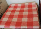 24 Red Plaid Cater Cloth 11 Paper Tablecloths