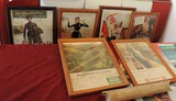 Framed Soda & Railroad Magazine Pages