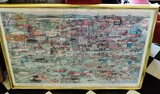 Catawba County 150 Years Alive Framed Signed Color Print