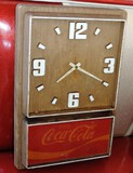 1970's Coca Cola Plastic Wall Clock