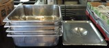 4 Half Stainless Steel Steam Pans