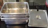 5 Half Stainless Steel Steam Pans