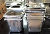 7 Quarter Stainless Steel Condiment Pans