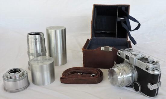 Scarce Kodak Ektra Camera With Case And Extras