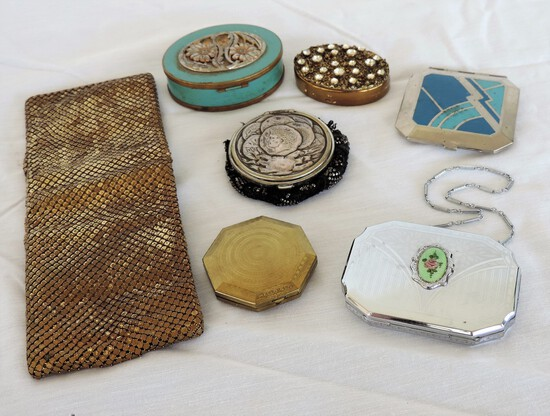 Lot of Antique Compacts