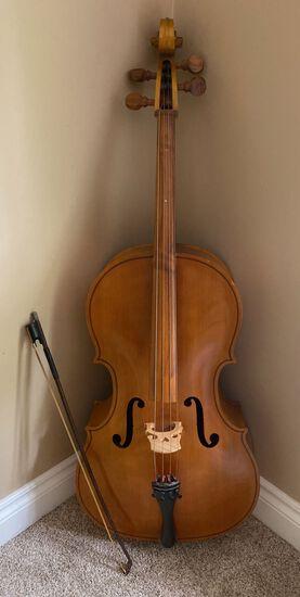 Blonde Wood Cello