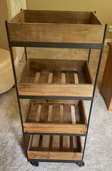 Rolling 4 Shelf Cart