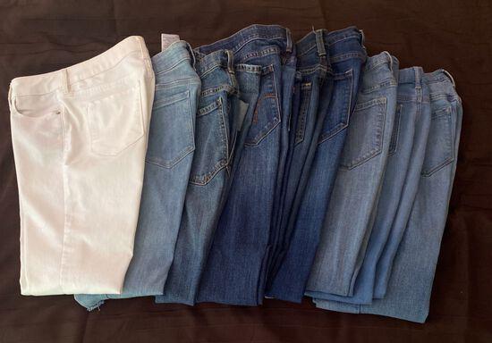 9 Pairs of Ladies Jeans