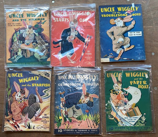 Lot Of 6 Vintage Uncle Wiggley Story Books
