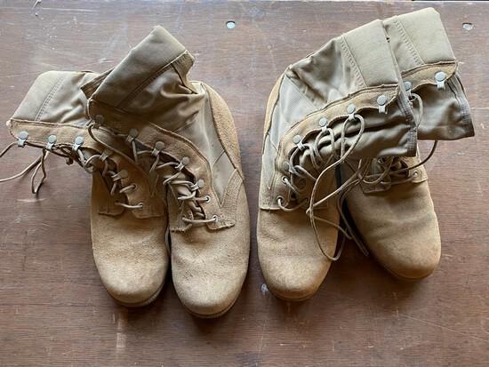 2 Pair Of Military Desert Boots