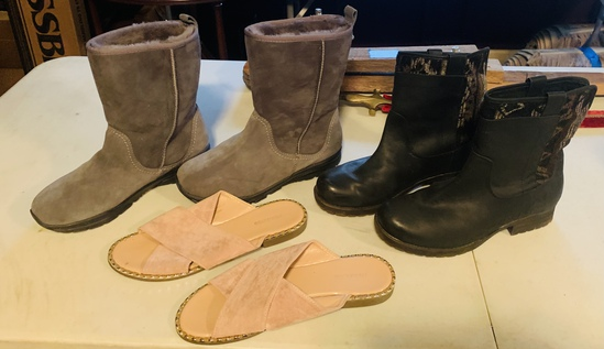 Lot Of  Size 10 Suede And Leather Boots
