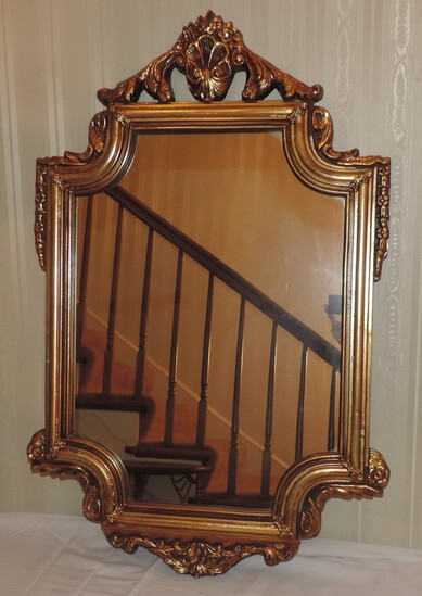 Mirror in gold composite frame