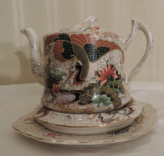 Phoenix Teapot and Underplate
